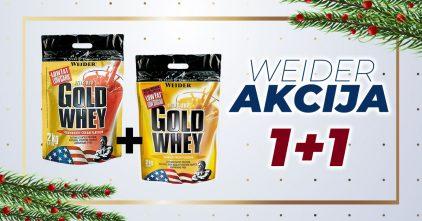 Velika akcija novogodisnja akcija1+1 gold whey weider